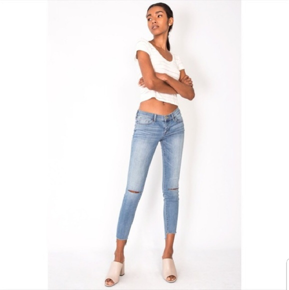 April Spirit Denim - Distressed Denim Light Blue Jeans